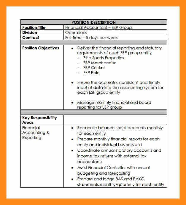 8+ job description sample pdf | actor resumed
