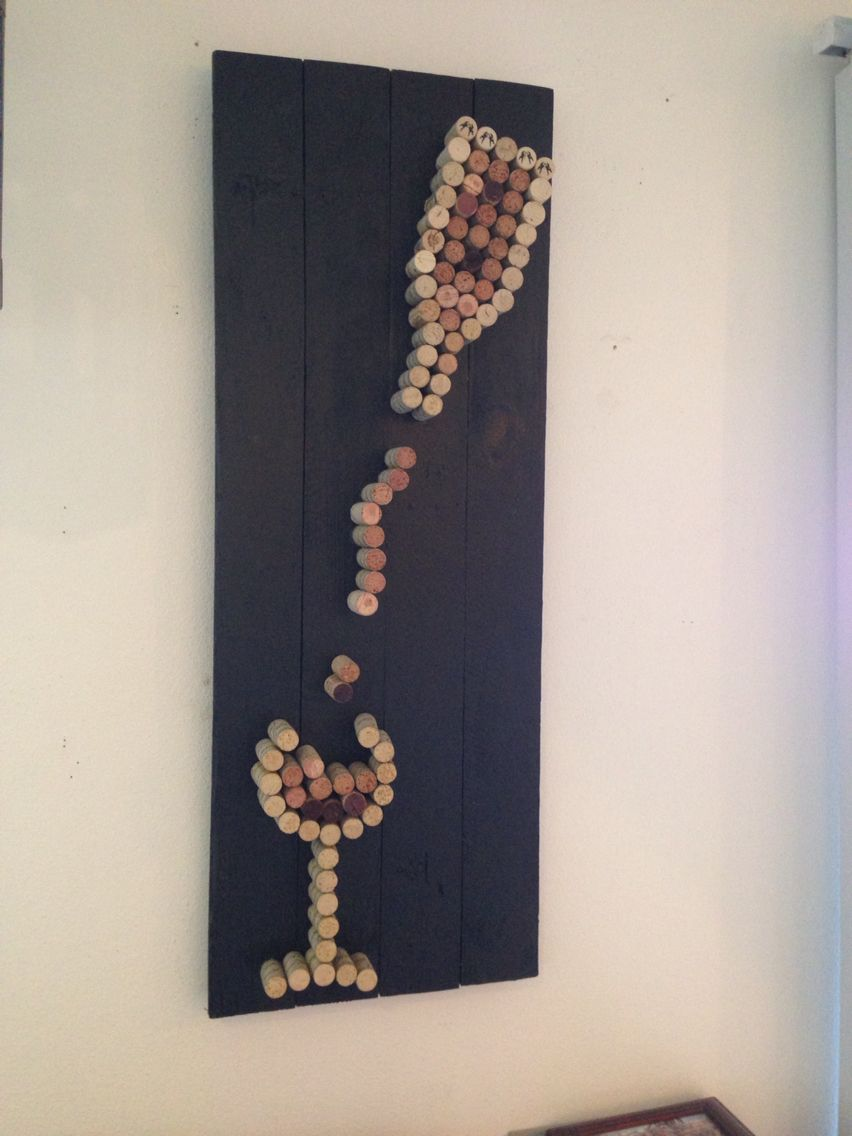 I 39 m definitely going have to make this wine cork crafts for Cork art ideas