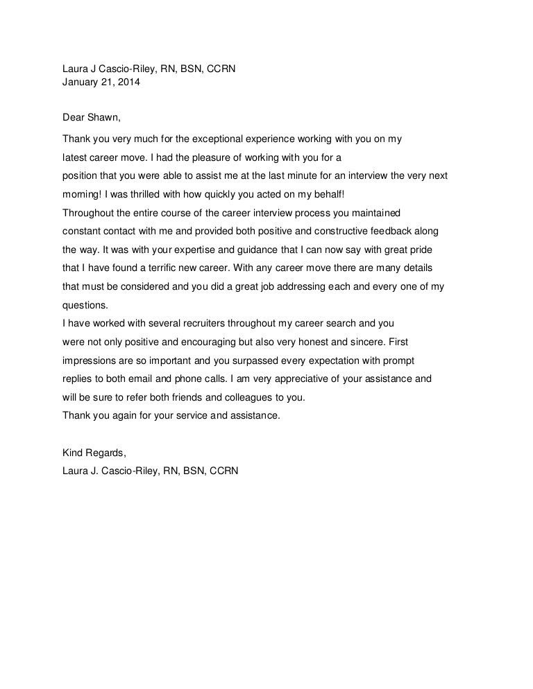 Shawn Tolan- Candidate Recommendation Letter