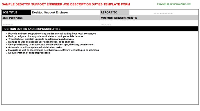 Remote Support Engineer Job Descriptions