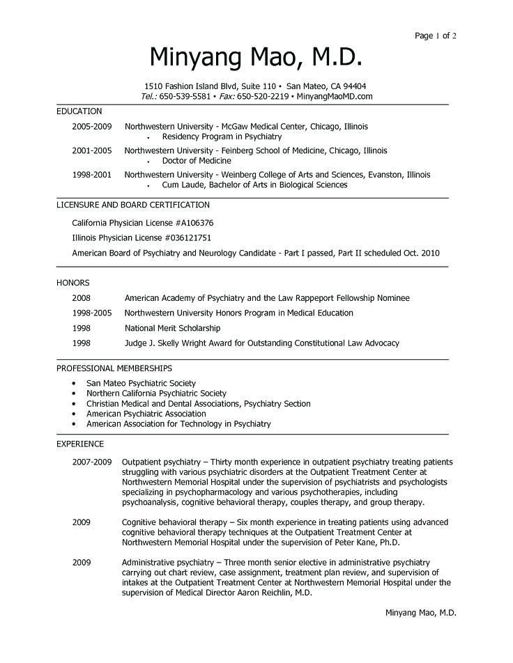 Example Resume Graduate School Application - Templates