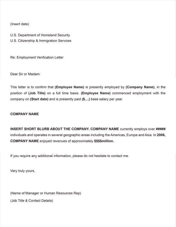 proof of employment letter sample employment verification letter ...