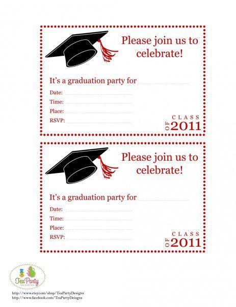 Free Graduation Party Invitation Templates – gangcraft.net