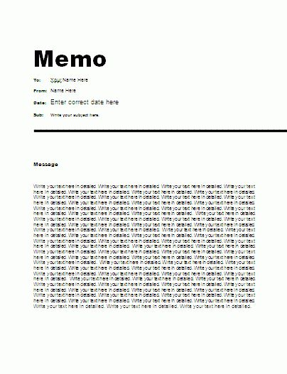 Simple Business Memo Template for Microsoft Word Template : Helloalive