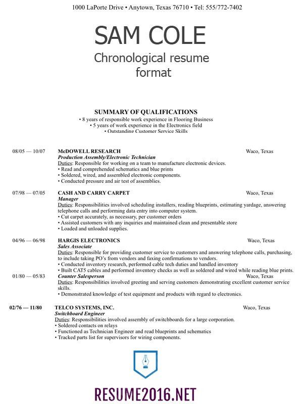 How Does A Resume Look - Resume Example