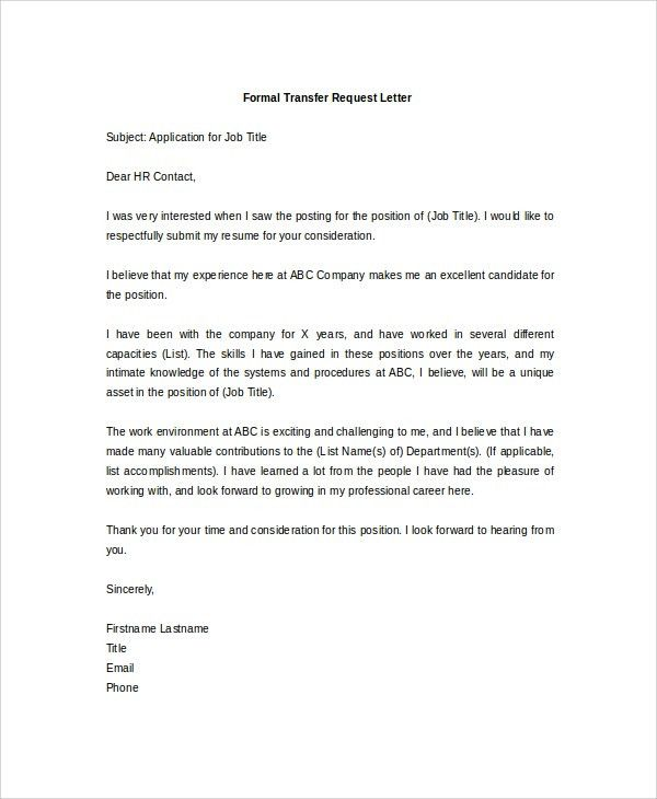 Formal letter application 55 free application letter templates sample formal request letter 8 documents in pdf word thecheapjerseys Image collections