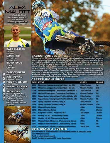 motocross sponsorship resume Template, Motocross Rider Resume ...