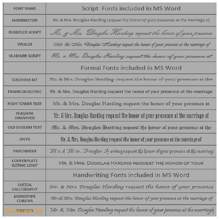 Wedding Invitation: Lovely Font for Wedding Invitations Microsoft ...