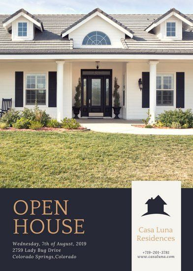 Purple-Grey and Brass Open House Flyer - Templates by Canva