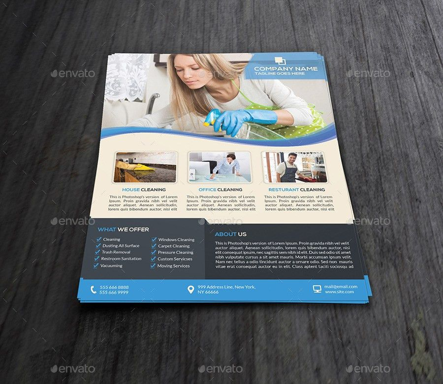 Cleaning Services Flyer Template by Elitely | GraphicRiver