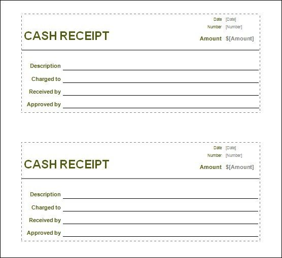 Cash Payment Receipt Template Samples : vlashed