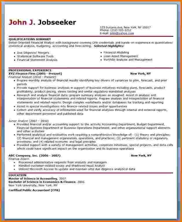 11+ financial analyst resume example | Financial Statement Form