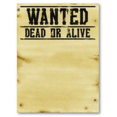 Wanted Dead or Alive Clip Art (14+)