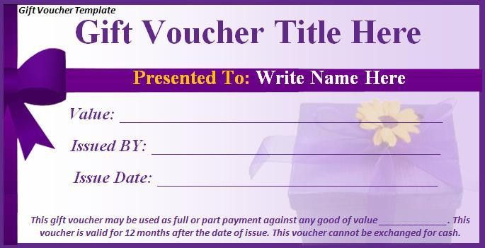 Gift Voucher Template - Best Word Templates