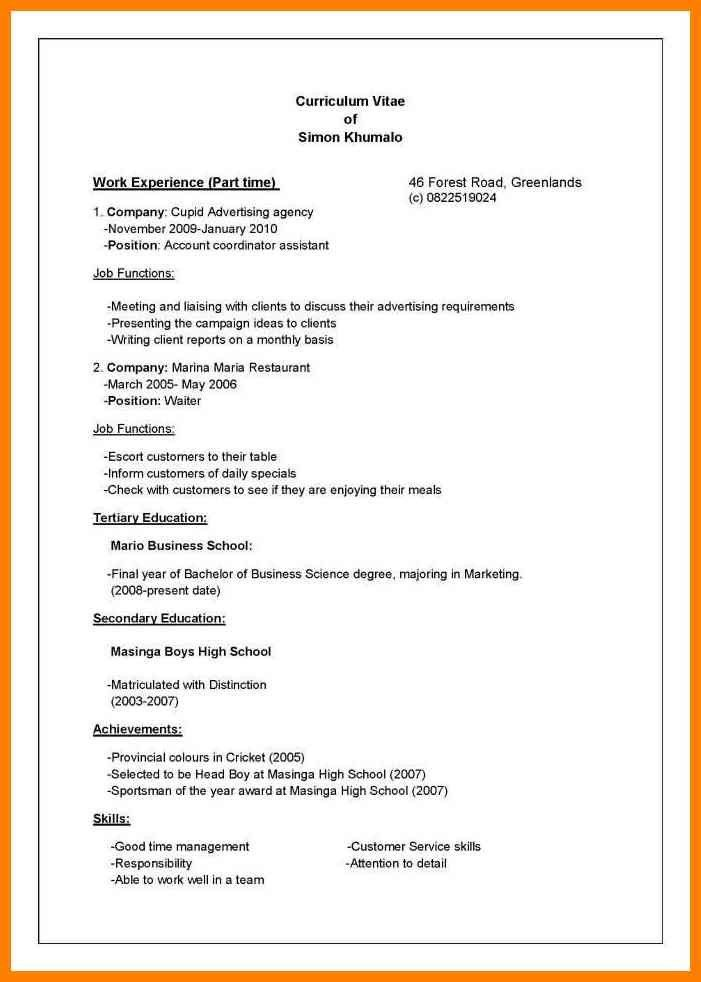 Curriculum Vitae References Format. resumes and cover letters ...