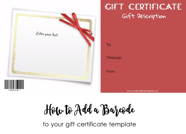 101 Gift Certificate Templates | Customize Online then Print