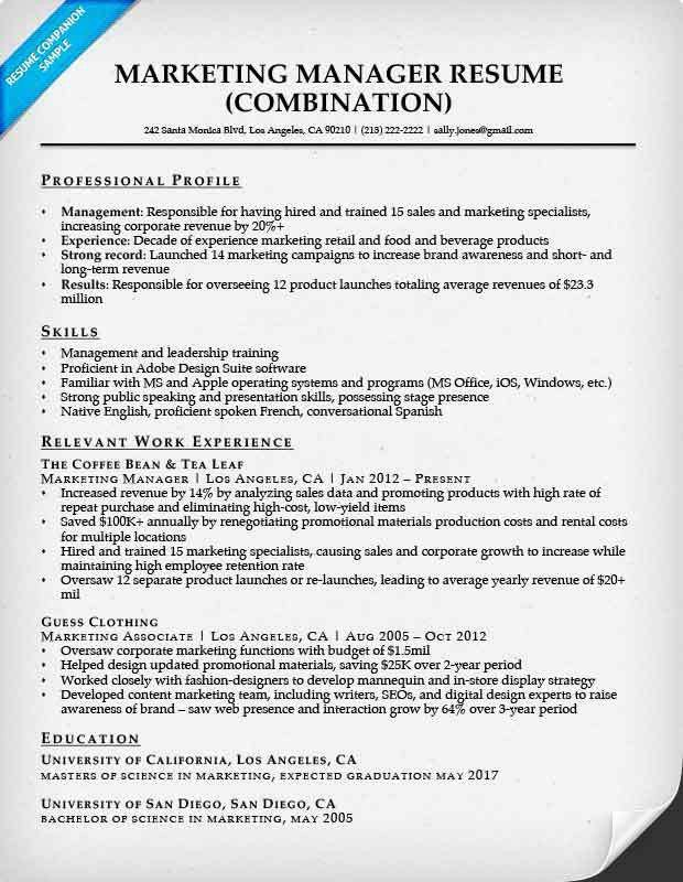 Combination Resume Samples | Resume Companion