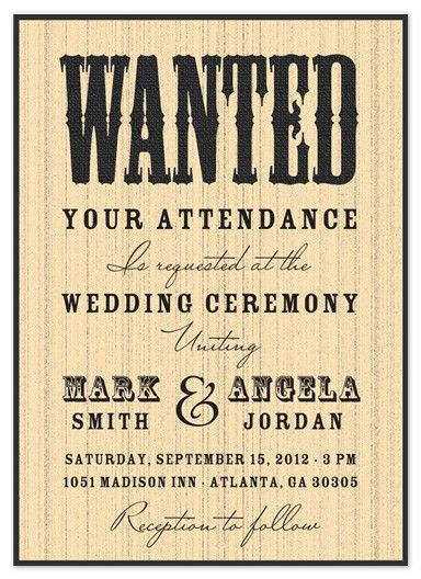 wedding invitations - Wanted at the Wedding at Minted.com