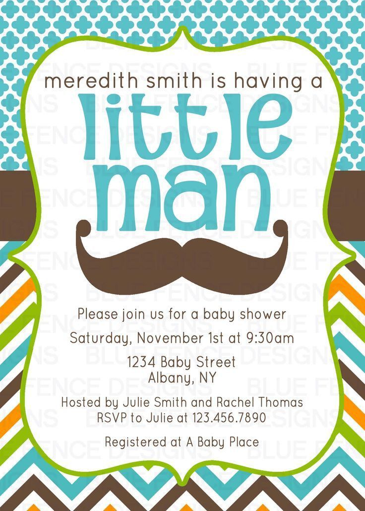 Free Mustache Baby Shower Invitations Templates — All Invitations ...