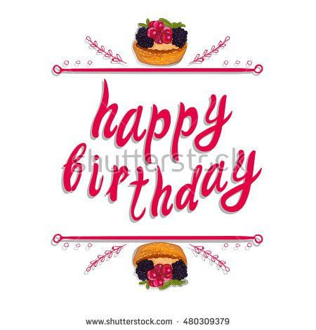 Happy Birthday Vector Greeting Card Template Stock Vector ...
