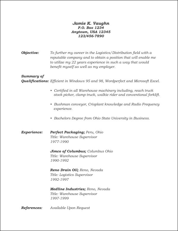 Resume Template 9