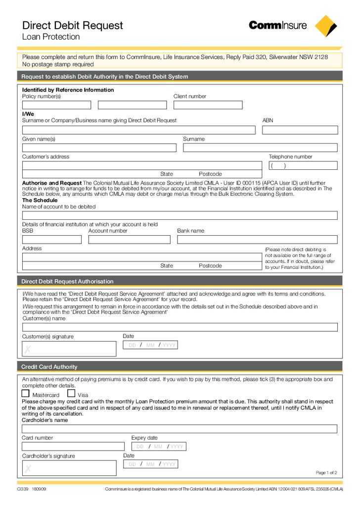 Custom Card Template » Credit Card Authority Form Template - Free ...