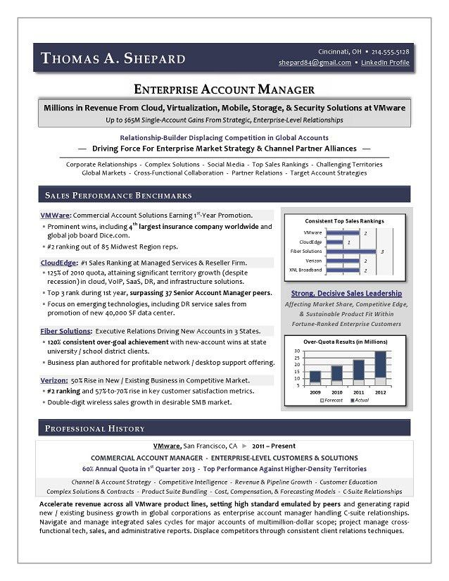 Best Executive Resume Writer - Award-Winning Sales Sample Resume ...