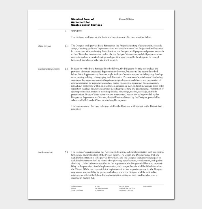 Graphic Designer Contract Template. 9 contract templates for ...