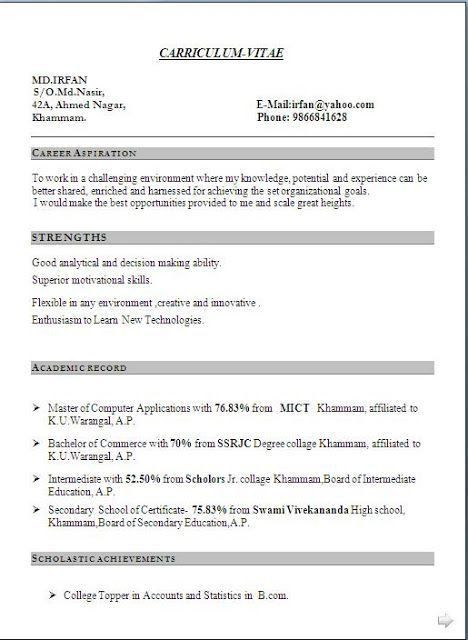 academic cv template word academic cv template curriculum vitae ...