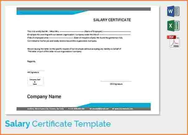 9+ salary certificate format word | Sales Slip Template
