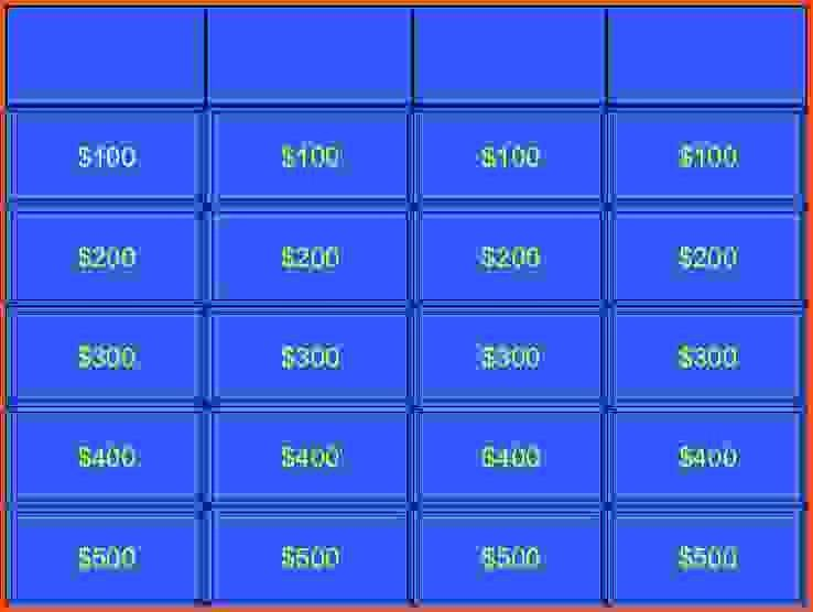 Jeopardy powerpoint template jeopardy powerpoint templates jeopardy game templateblank jeopardy powerpoint templateg pronofoot35fo Choice Image