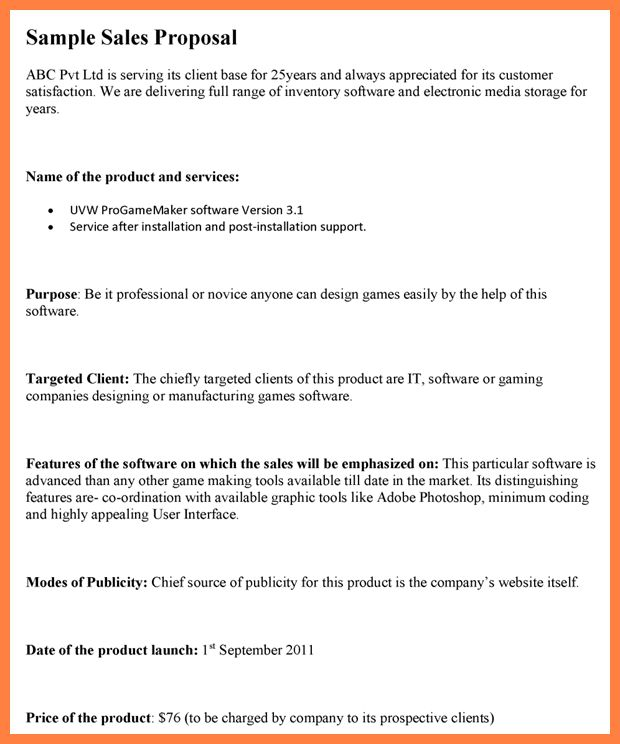 Software Sales Proposal Template. web site proposal template ...