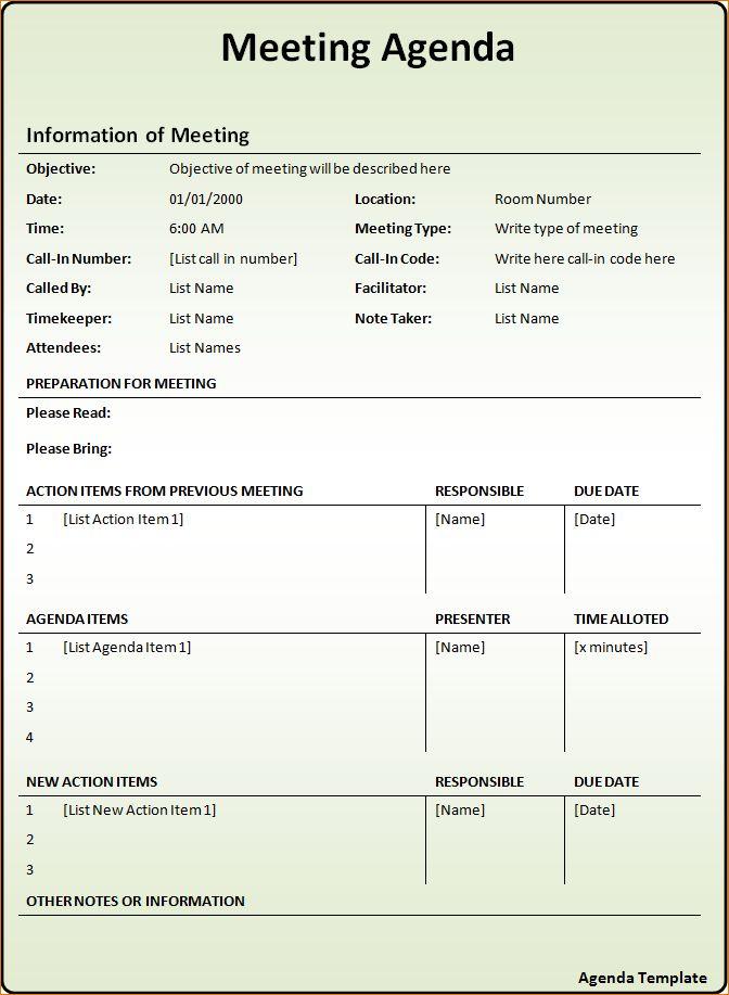 10 Agenda ExamplesAgenda Template Sample | Agenda Template Sample