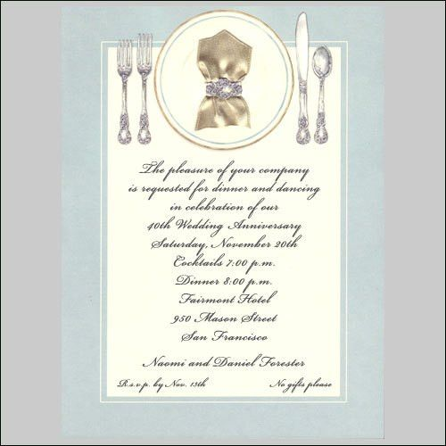 Dinner Invitations, Dinner Party Invitations, Luncheon Party ...