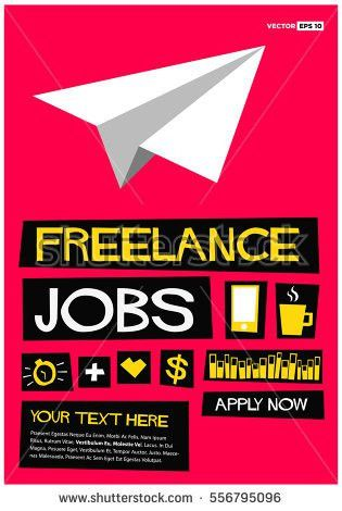Now Hiring Freelancers Join Us Flat Stock Vector 555800053 ...