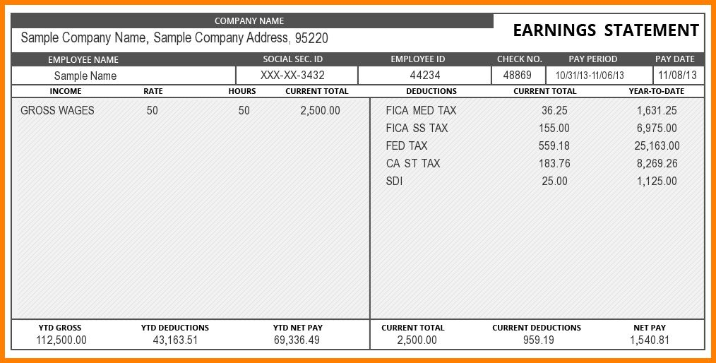 9+ paystub template word | sample of invoice