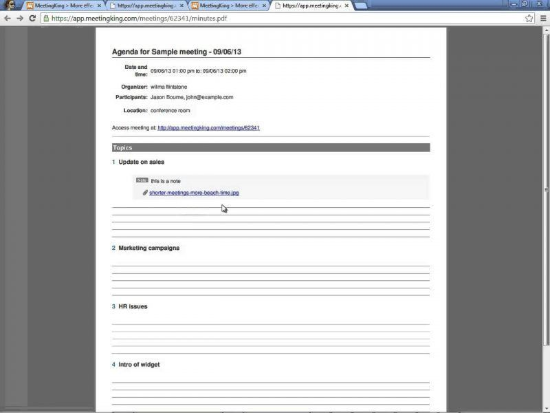 Meeting Note Taking Template 5 | Professional Templates