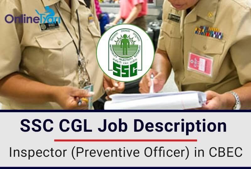 SSC CGL: Inspector Preventive Officer CBEC Job Profile, Salary ...