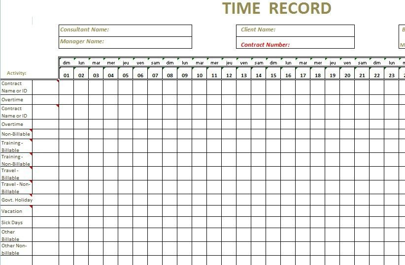 100+ Time Sheet Template | 5 Bi Weekly Timesheet Template ...