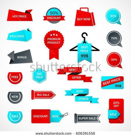 Vector Stickers Price Tag Banner Label Stock Vector 460434589 ...