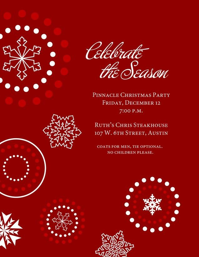 Office Holiday Party Invitation Template - vertabox.Com