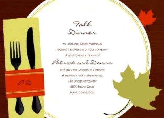 Invitation To Dinner Template | cimvitation