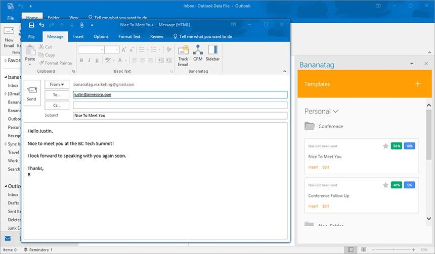New: Email Templates and Email Tracking for Outlook Users | Bananatag