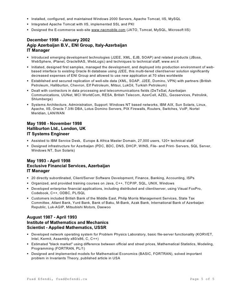 Resume in MS-Word Format