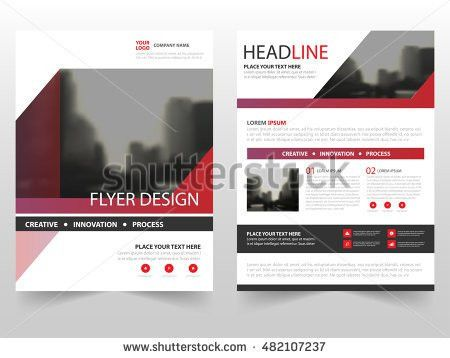 Red Circle Annual Report Brochure Design Stock Vector 530413354 ...