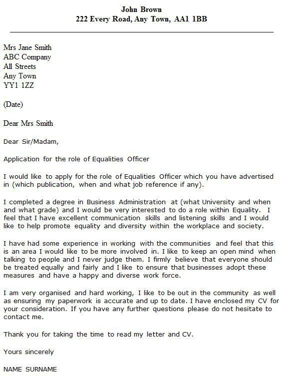 How To Write A Cover Letter For Probation Officer Position - Cover ...