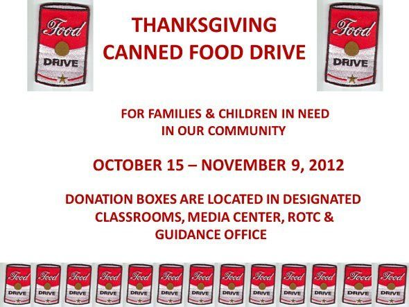 HCA canned food drive | Gulf High School