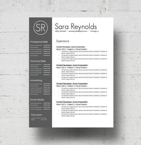 74 best cv_portfolio images on Pinterest | Resume templates ...