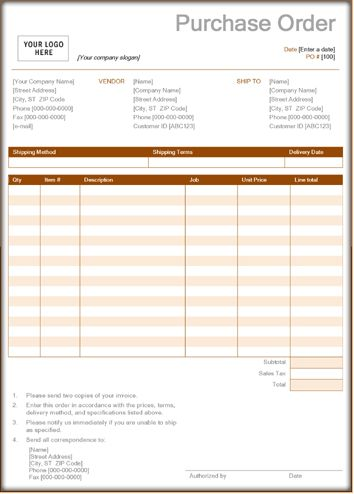 Purchase Order Forms – 9+ Download Sample Form Templates in Word, PDF