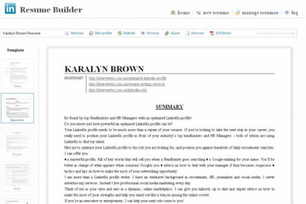 Resume Builder Linkedin | haadyaooverbayresort.com